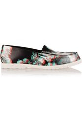 Maison Martin Margiela 3D Effect Floral Print Leather Loafers