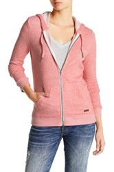Roxy Signature Full Zip Hooded Sweater Pink