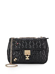 Betsey Johnson Be My Baby Quilted Faux Leather Crossbody Black