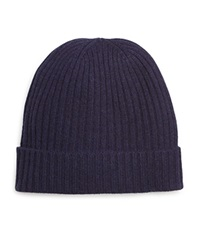 The Men's Store At Bloomingdale's Ribbed Cashmere Cuff Hat Navy
