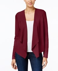 Inc International Concepts Petite Faux Moleskin Draped Cardigan Only At Macy's Port