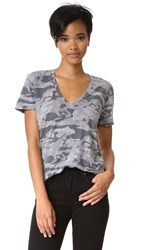 Monrow Granite Camo Oversized V Neck Tee