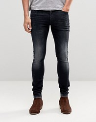 Asos Extreme Super Skinny Jeans With Blue Black Acid Wash Blue Black