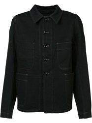 Christophe Lemaire Buttoned Jacket Black