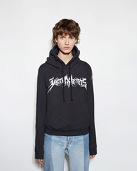 Vetements Fitted Hoodie Black Print