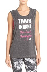 Women's Betsey Johnson 'Train Insane' Acid Wash Muscle Tank