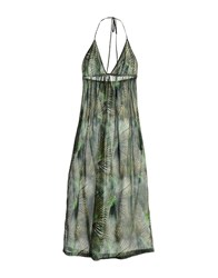 M.Grifoni Denim Dresses 3 4 Length Dresses Women Dark Green