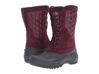 The North Face Thermoball Utility Mid Deep Garnet Red Calypso Coral Women's Pull On Boots