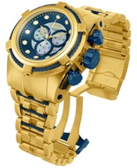 Invicta Men's Swiss Chronograph Bolt Zeus Gold Tone Stainless Steel Bracelet Watch 53Mm 12742