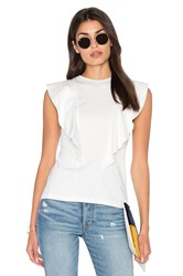 Edit Ruffle Front Tee White