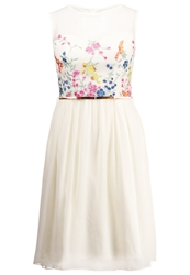 Little Mistress Summer Dress Cream Beige