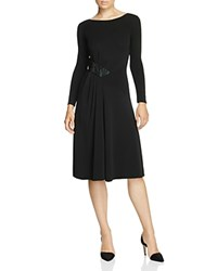 Armani Collezioni Embellished Jersey Dress Black