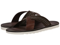 Dune Inky Brown Leather Men's Sandals