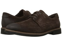 Rockport Classic Break Plain Toe Dark Bitter Chocolate Suede Men's Shoes Brown