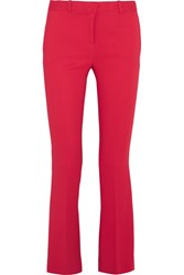 Versace Stretch Crepe Flared Pants Tomato Red