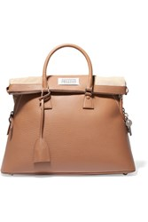 Maison Martin Margiela 5Ac Large Textured Leather Tote Tan