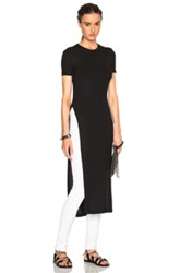 Rosetta Getty Ribbed Viscose Jersey Elongated Tee In Black