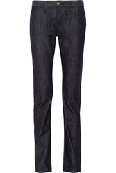 Current Elliott Charlotte Gainsbourg The Slim Straight Mid Rise Jeans Blue