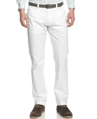 Calvin Klein Core Sateen Slim Fit Pants White