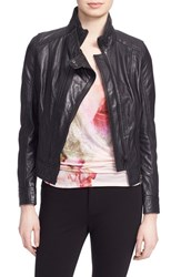 Ted Baker Women's London 'Roark' Stand Collar Leather Jacket