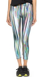 Zara Terez Rainbow Metal Performance Leggings Multi