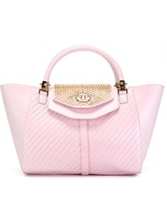 Philipp Plein 'Rainy Day' Tote Pink And Purple
