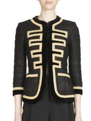 Givenchy Military Tweed Zipper Jacket Black