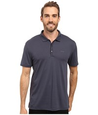 Calvin Klein Short Sleeve Interlock Polo India Ink Men's Short Sleeve Knit Gray