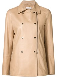 Tomas Maier Double Breasted Jacket Nude And Neutrals