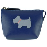 Radley Heritage Dog Small Leather Coin Purse Blue