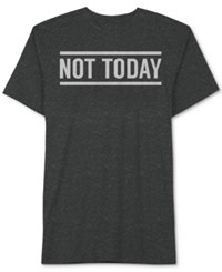 Jem Men's Not Today Graphic Print T Shirt Black Speckle
