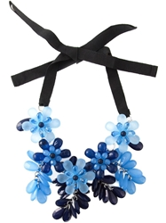 P.A.R.O.S.H. Flower And Drop Necklace Blue