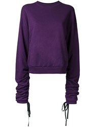 Le Ciel Bleu Loose Fit Sweatshirt Pink Purple