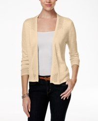 Charter Club Crochet Trim Open Cardigan Only At Macy's Sand