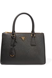 Prada Galleria Medium Textured Leather Tote Black