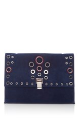 Proenza Schouler Large Lunch Bag With Grommets Navy