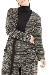 Elvi Plus Size Women's Textured Oversize Cardigan