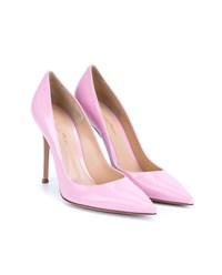 Gianvito Rossi Patent Point Toe Pumps Pink Light Pink
