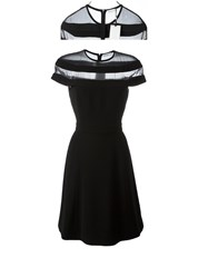 Thierry Mugler Sheer Panel Dress Black