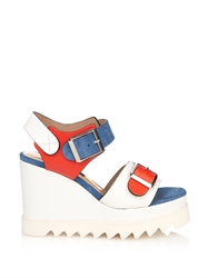 Chrissie Morris Ida Lizard Effect Leather Wedge Sandals