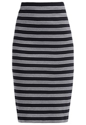 All About Eve Pencil Skirt Black White
