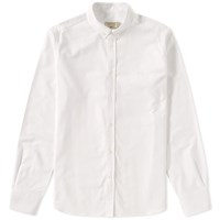 Maison Kitsune Button Down Classic Embroidered Fox Oxford Shirt White