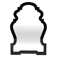 Jonathan Adler Queen Anne Mirror Black