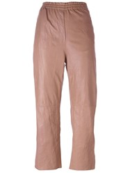 Forte Forte Tapered Cropped Trousers Pink And Purple