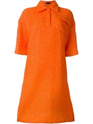 Rochas Shirt Dress Yellow And Orange
