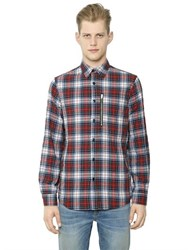 R 13 Zip Pocket Japanese Plaid Shirt