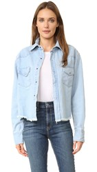 One Teaspoon Alaskan Cropped Shirt Jacket Zeppelin