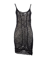 Valentino Roma Short Dresses Black