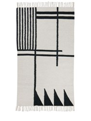 Ferm Living Small Black Lines Kelim Rug