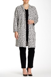 Daniel Rainn Hooded Animal Print Jacket Plus Size Multi